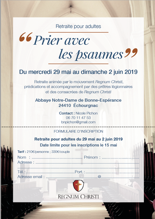 Inscription Echourgnac 2019