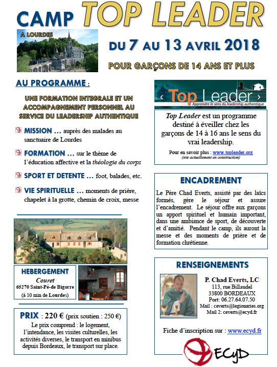 Top Leader Garçons Pâques 2018 Lourdes